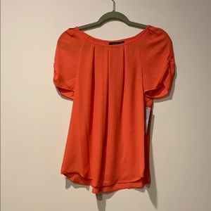 NWT Apt.9 Short Sleeve Pleated Shirt